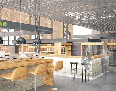 projekt rewitalizacji wnętrza Hali Mirowskiej