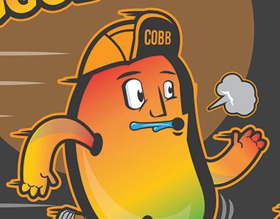 Wobbling Mangoes Running Shirt Illustration