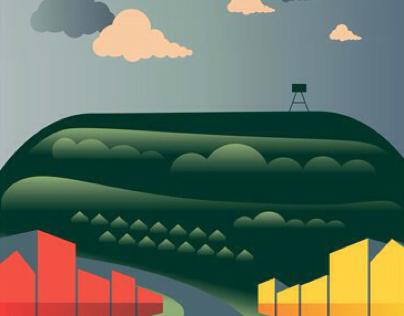Mt Eden Tourism Poster