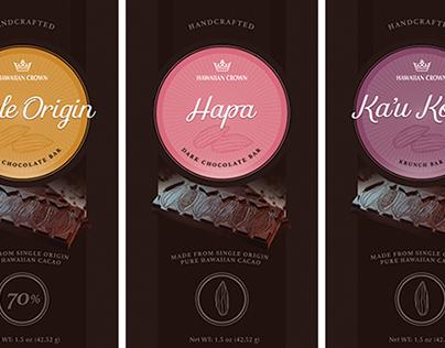 HAWAIIAN CROWN • Chocolate Bar packaging redesign