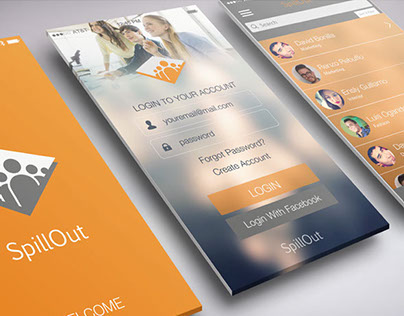 SpillOut App - Identity and App Concept Design