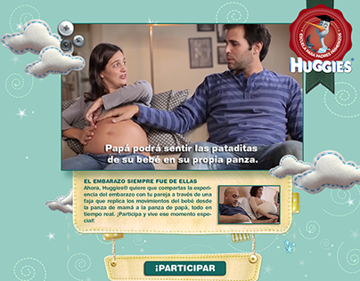 """HUGGIES Father's Day campaign """"Embarazados"""""""
