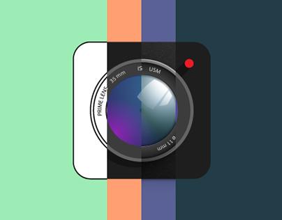 Exploring Styles: Camera App Icon