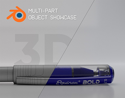 Multi-Part Object Showcase | Created in Blender