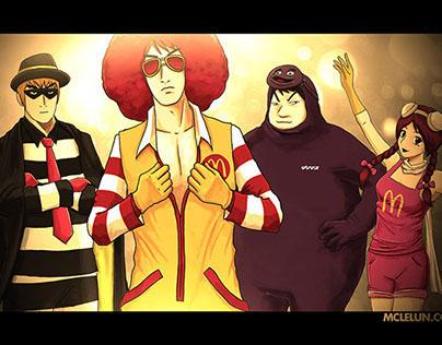 Manga-fy Mcdonalds Characters 2012