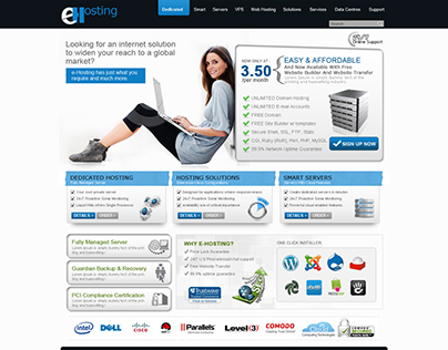 Design done for a Webhosting Company