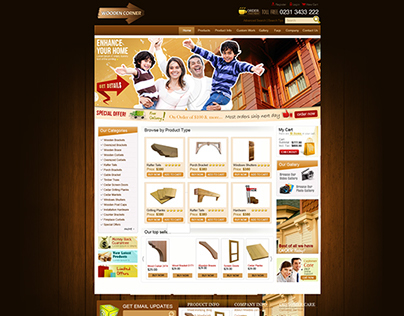Design done for a Company that provide wooden products