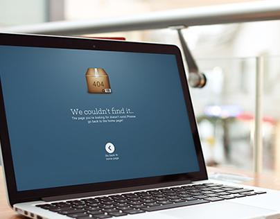 Dark Blue 404 Page