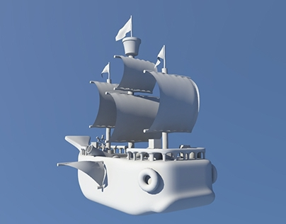 3D Whale Pirate Ship