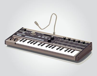 Microkorg synthesizer vector