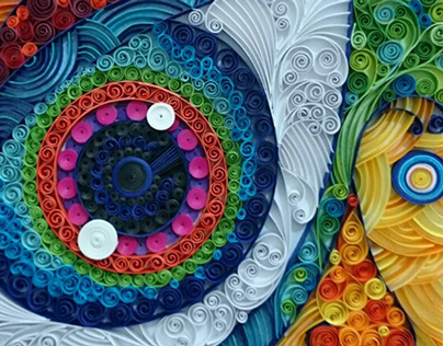 Window to the soul - paper quilling