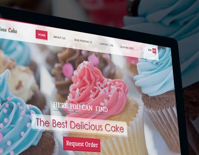 Delicious Cake UI/UX Design