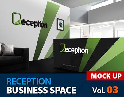 Mock up Logo 3D in Reception Room - Vol.3