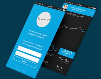 iOS app concept for Google analytics