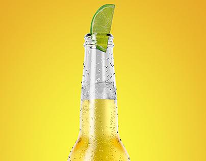 3D Corona beer bottle