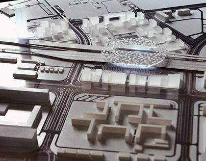 New Belgrade Block 42 scale model-making off