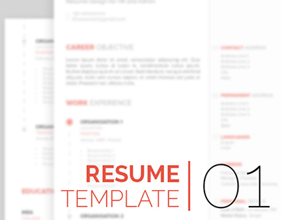 Resume - Template Design 01 - Free