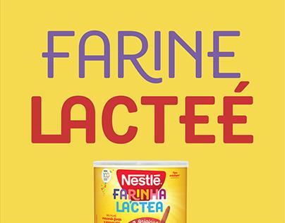 Custom Typeface for Farine Lacteé Nestlé