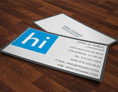 "Modern Bold ""Hi"" Business Cards"