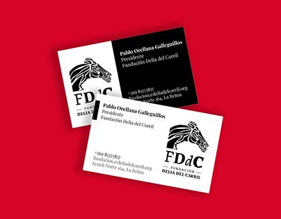 Tarjetas de presentación · Fundación Delia del Carril