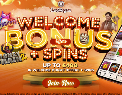 iGaming social media banners - LeoVegas