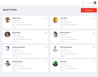 Admin profile Dashboard