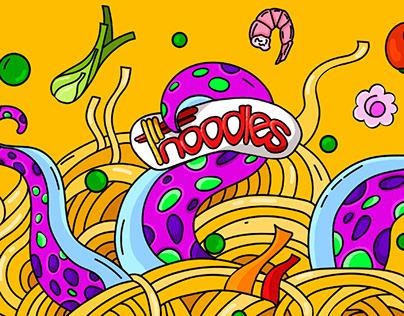 Illustration for noodles box