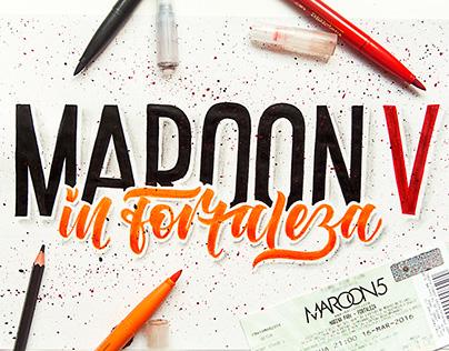 Maroon 5 Lettering Tour Brasil