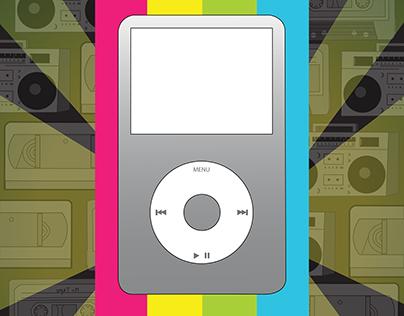 Afiche iPod Retro 80s