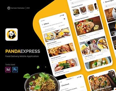 Panda Express Food Delivery App UI Design