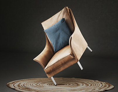 3D Photoreal Furniture Rendering - Armchair