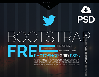 Bootstrap responsive Grid PSD, FREE, Mobile Tablet Web