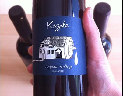 "Wine labels ""Kezele"""