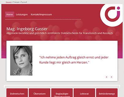Mag. Ingeborg Gasser - Dolmetscherin