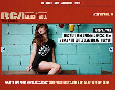 The Strokes Merch Table - E-Commerce Store