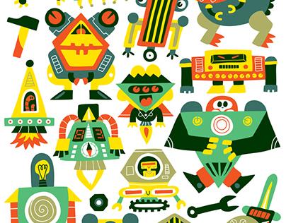 80 Tatoos Robots - Editions Deux coqs d'or