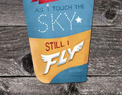 Still I Fly | Typographic Poster