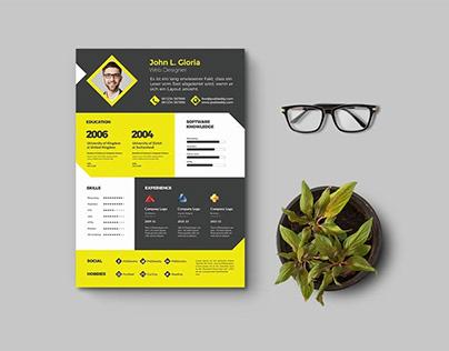 Free Designer Resume Template (PSD)