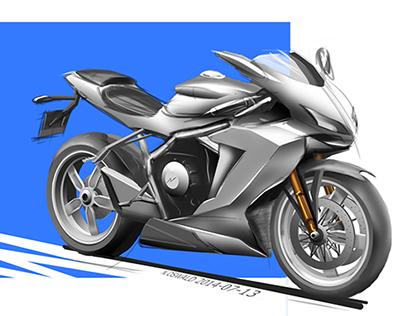 Motorcycle Concept Rendering