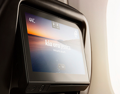 Air New Zealand In Flight Entertainment GUI
