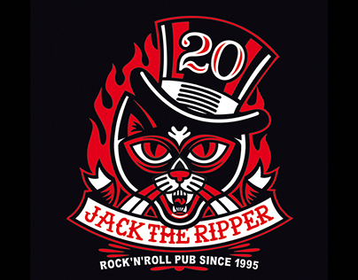 """JACK THE RIPPER """"20 YEARS"""" LOGO 2015"""