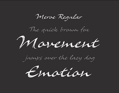 Meroe typeface
