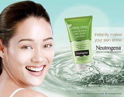 Neutrogena face-wash ad
