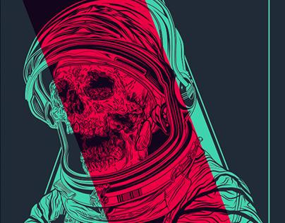 Skull astronaut..