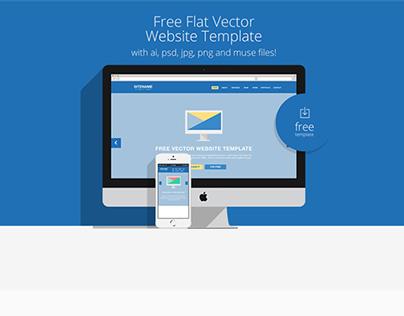 Free Flat Website Template