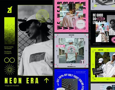 Neon Era - Social Media Templates