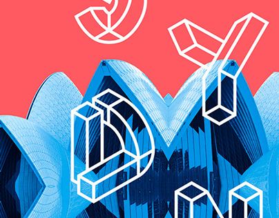 Typographic poster for Sydney
