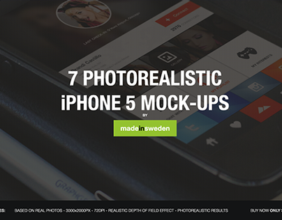 7 Photorealistic iPhone 5 Mock-Ups