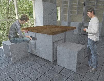 Flexible kitchen furniture