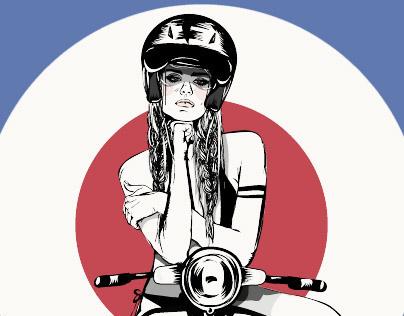 Vespa Girl - Serie: My girls